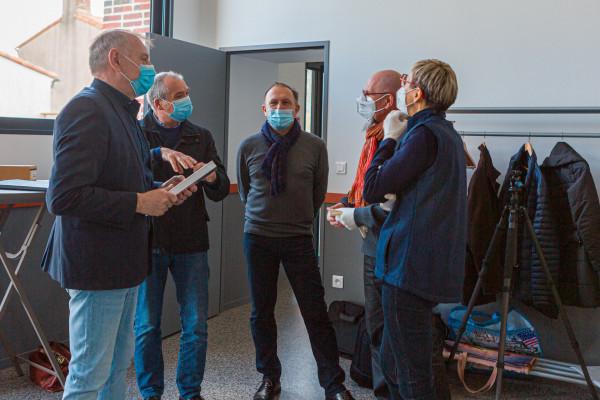 Les élus, Eric Girard président de LPS, Gérard Barbier responsable national et régional des compétitions, Brigitte Rondel présidente de l'UR Pays de la Loire